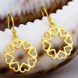 Golden Hearts Drop Earrings