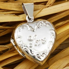 Love Letter Engraved Pendant