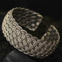 Modern Twisted Wire Cuff Bangle