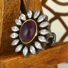 Purple Amethyst Statement Ring