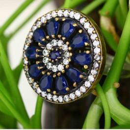 Blue Sodalite Chakra Statement Ring