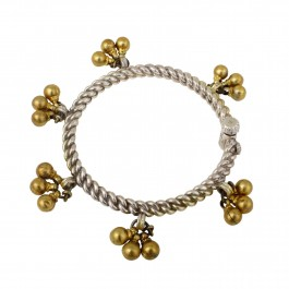 Ghungroo Two Tone Silver Anklet