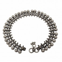 Chandrika Silver Beaded Anklet
