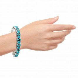 Turquosie Beauty Silver Bangle