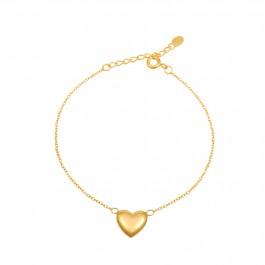 Golden Heart Charm Bracelet