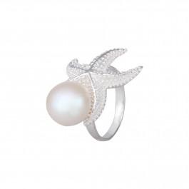 Starshine Starfish Pearl Ring