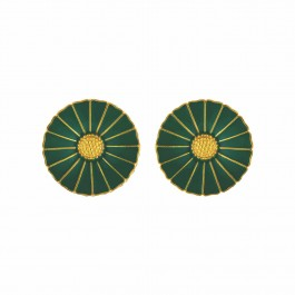Green Enamel Disc Studs