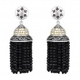 Black Onyx Jhumki  Jhumka Earrings for Women and Girls