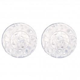 Criss Cross Silver Stud Earrings