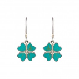 Floral Turquoise Drop Earrings