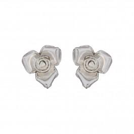 Rosette Floral Stud Earrings
