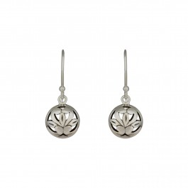 Floral Circular Drop Earrings