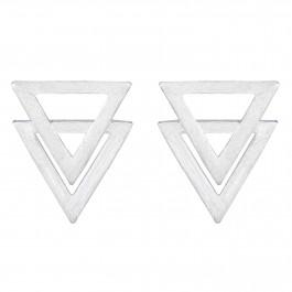 Mirror Triangular Stud Earrings