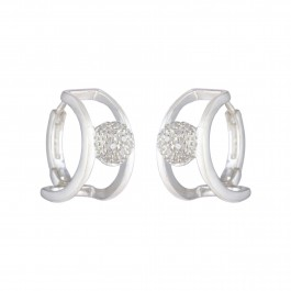 Pristine Zircon Bali Earrings