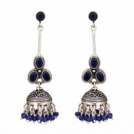 Blue Sodolite Silver Nirali Earring