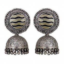 Prakriti Silver Oxidized Jhumka