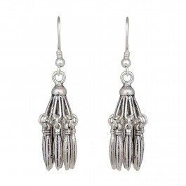 Atttractive Handmade Tube Oxidized Silver Earring for Women and Girls