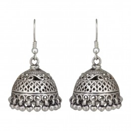 Classic Bell Traditional Oxidized Jhumka for Women and Girls