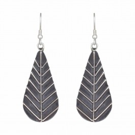 Leafy Dangle Dop Silver Earring for Women and Girls