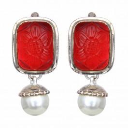 Pasha Tourmaline Rectangular Silver Drop Earrings