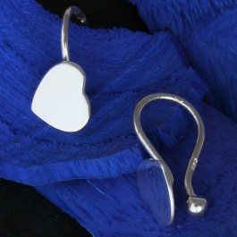 Tiny Heart Hug Stud Earrings