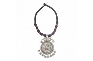 Ratna Silver Peacock Necklace