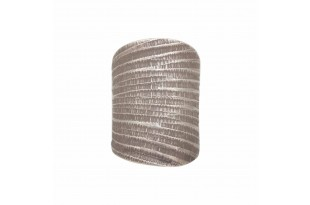 Curved Rugged Band Silver Ring