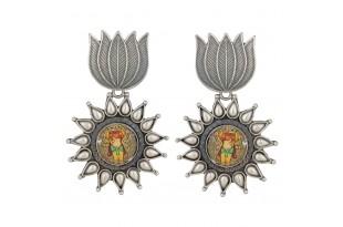 Lotus Ganesha Earrings