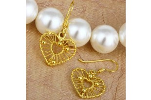 Filigree Golden Drop Earrings