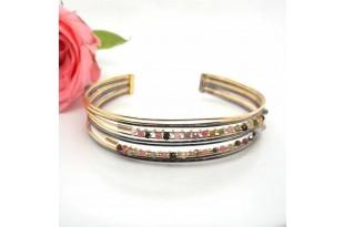 Tourmaline Two Tone Silver Bracelet