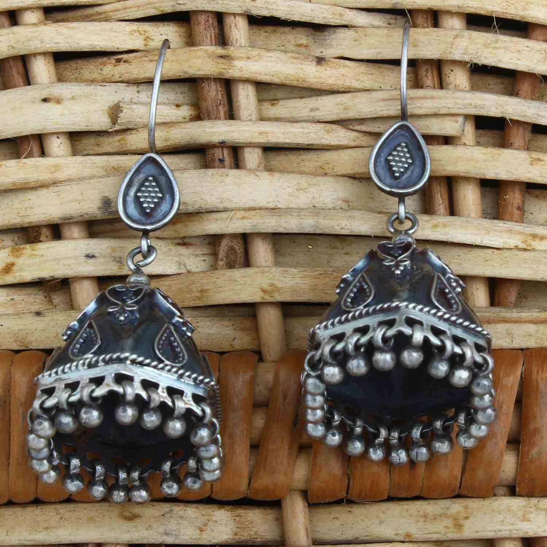 Indian Jewelry Oxidized Handmade Women Bell Jhumka Earrings for Women and Girls