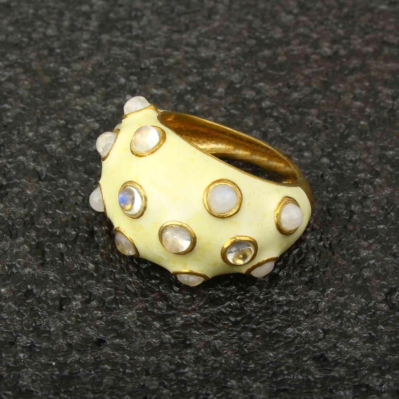 White Enamel Silver Ring online   Buy Silver Ring for women