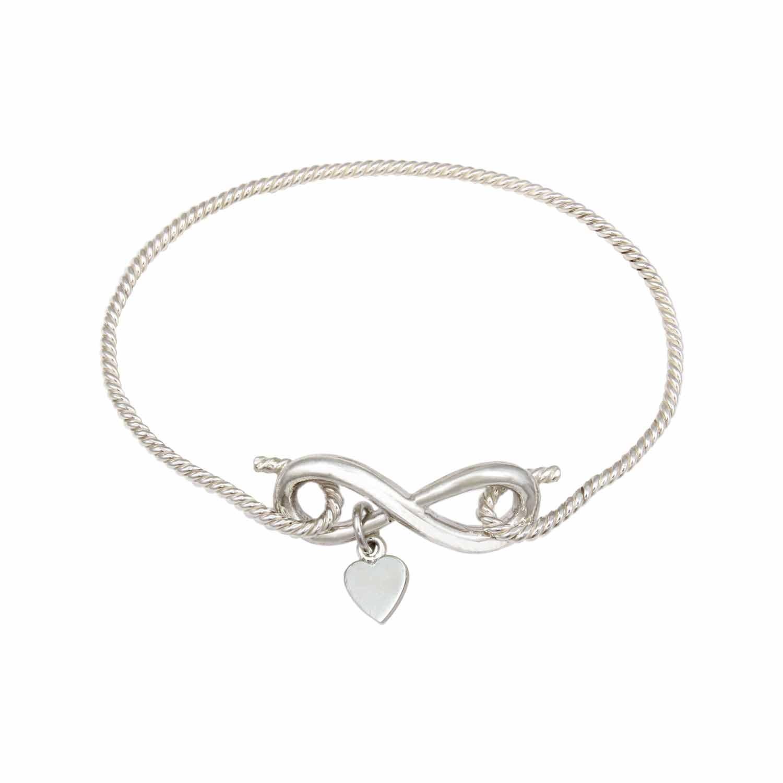 Twisted Wire Heart Bracelet