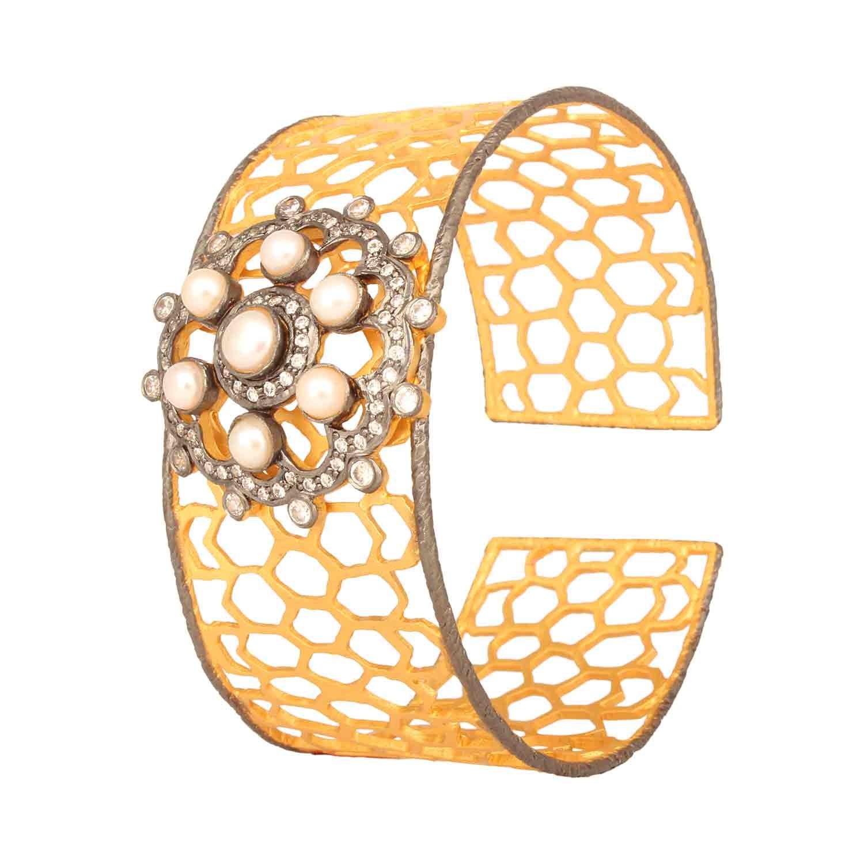 Honeycomb Pearl Royal Bracelet