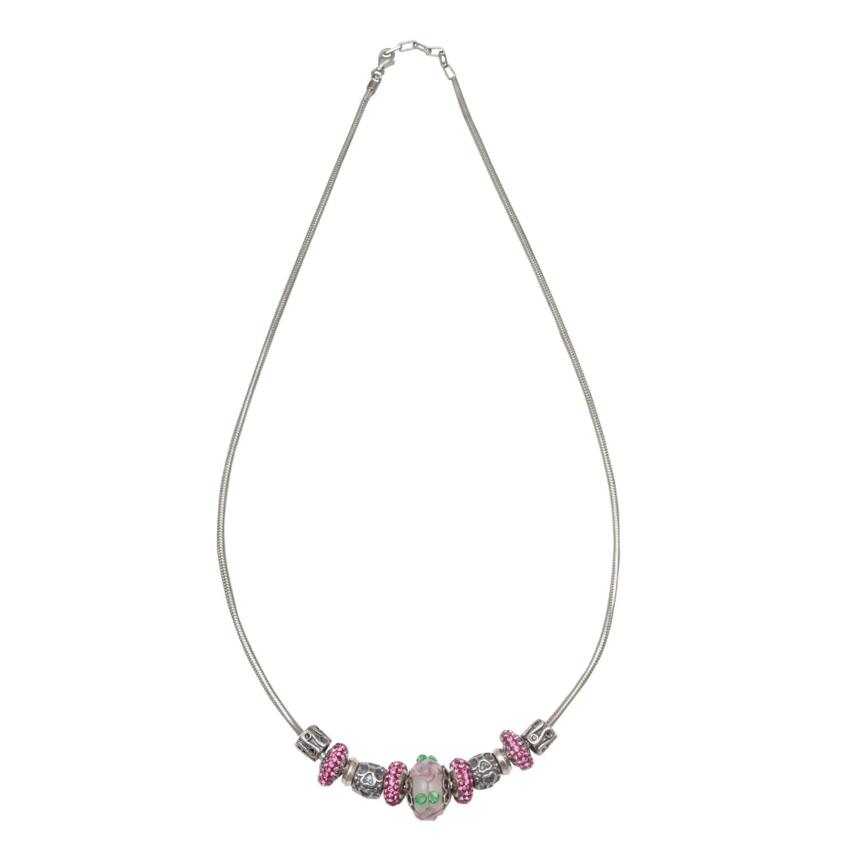 Pink Swaroski Necklace