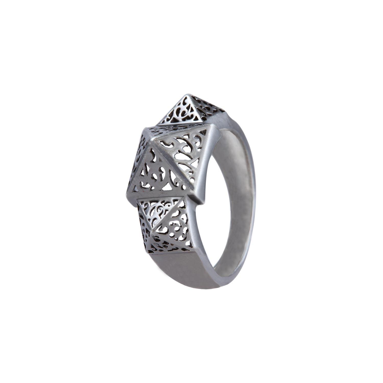 Prisma Oxidised Filigree Ring