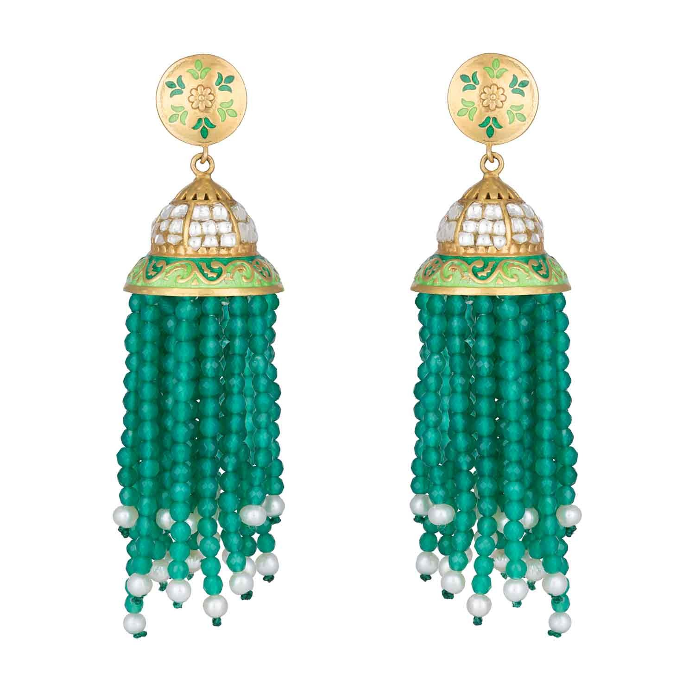 Indian Traditional Wedding Jhumka Jhumki Earrings for Women and Girls