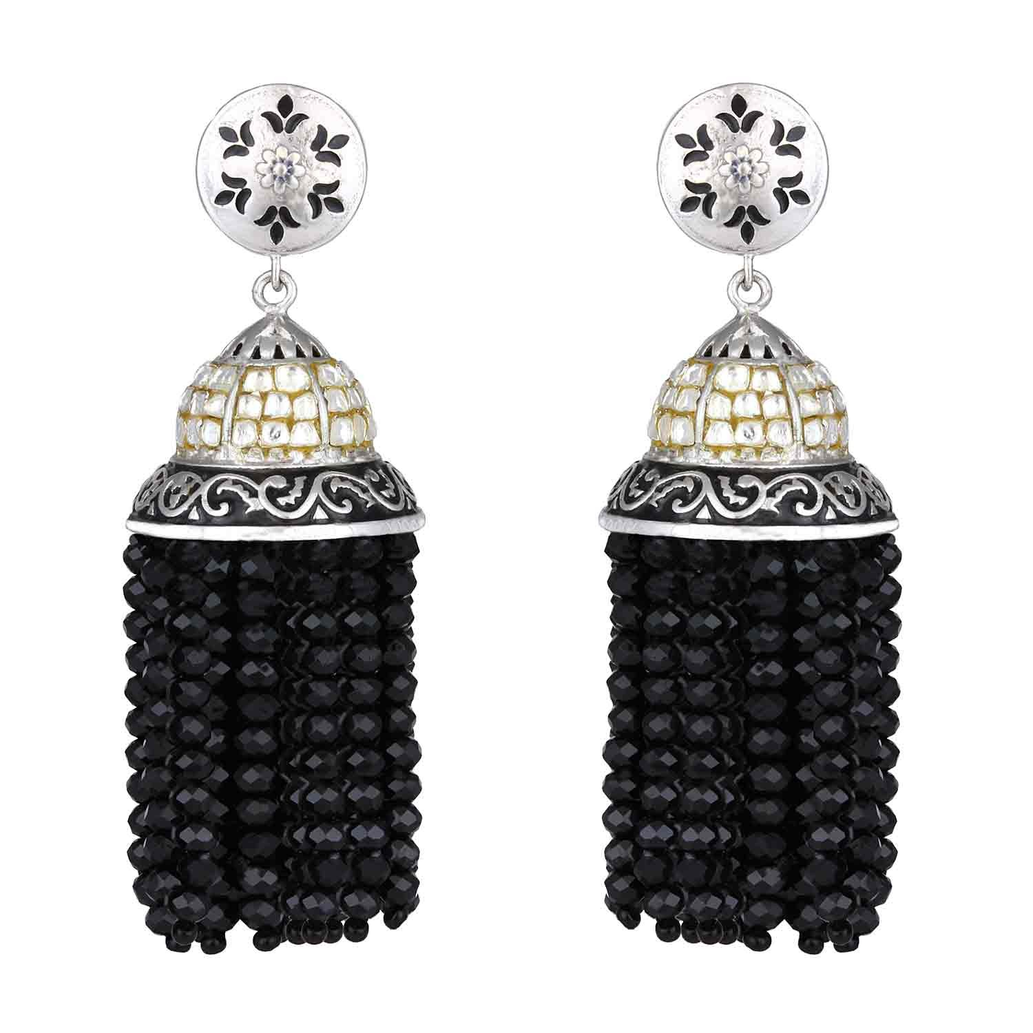 Black Onyx Jhumki  Jhumka Earrings for Women and Girls