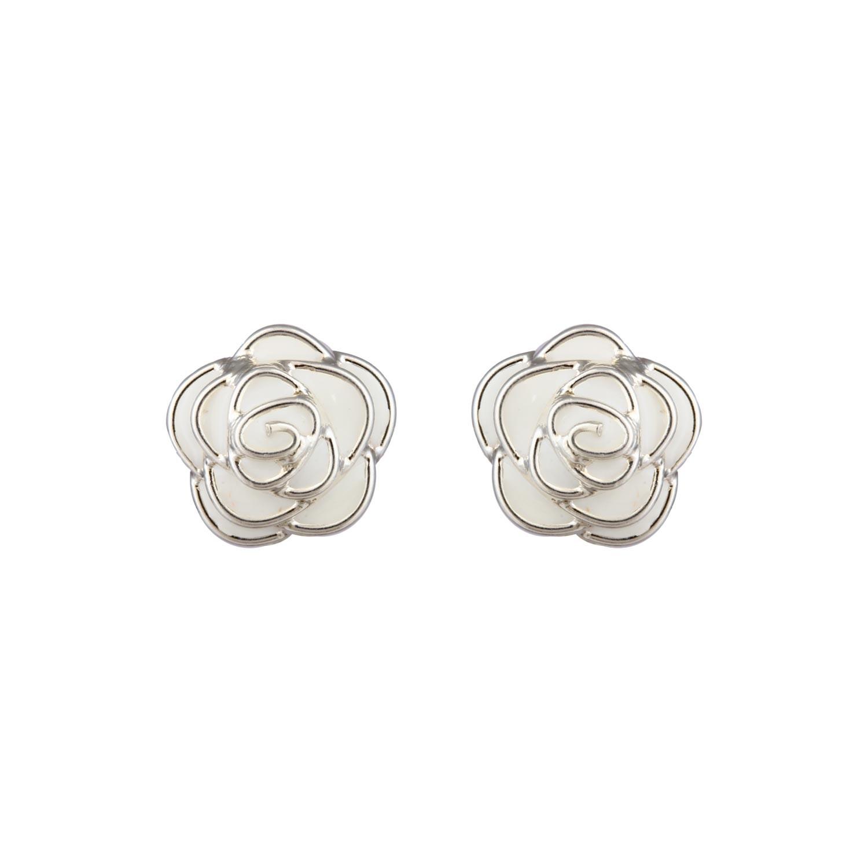 White Rose Studs