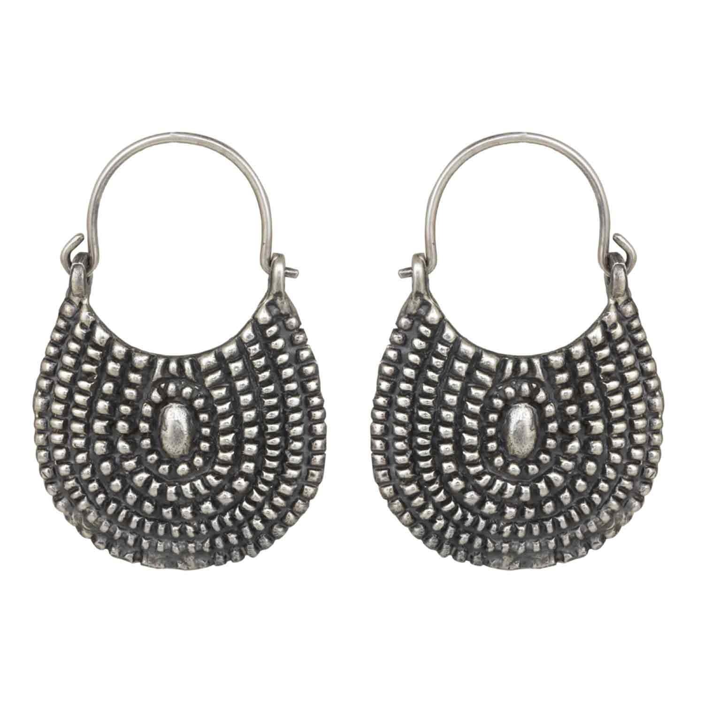 Handbag Silver Hoop Earrings