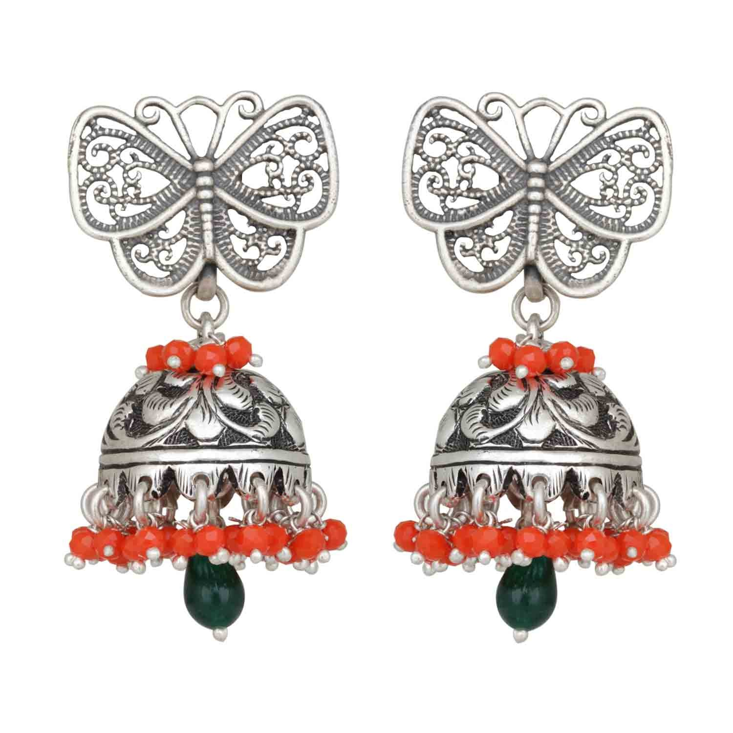 Coral Butterfly Jhumka Earring for Women and Girls