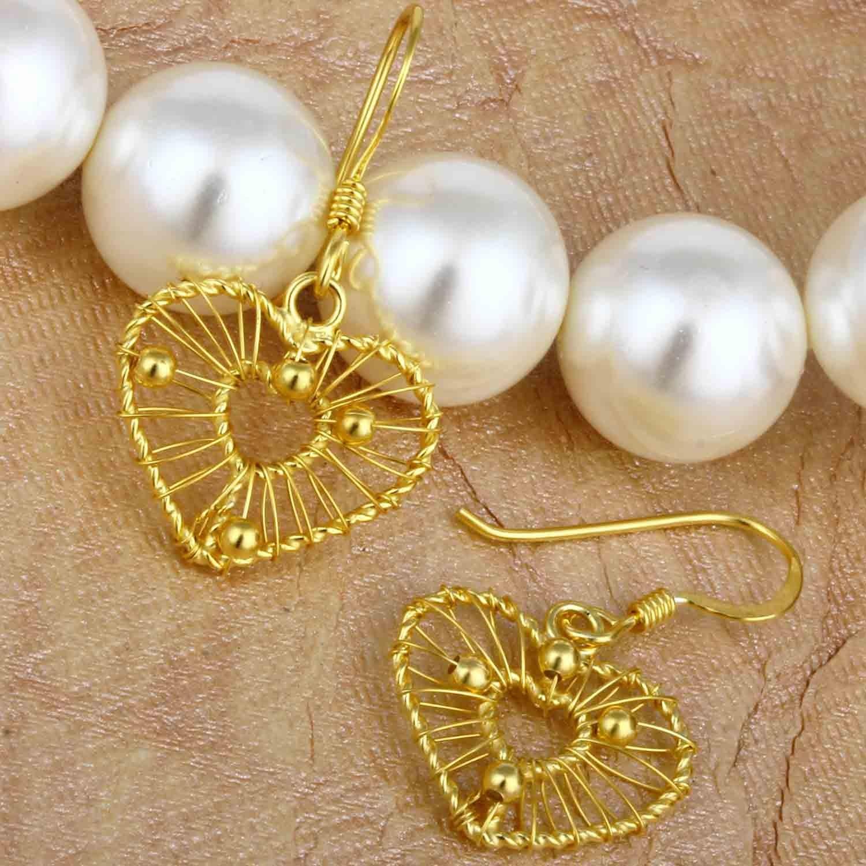 Filigree Golden Drop Earrings