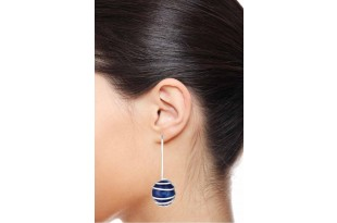 Popular Swirl Lapis Drop Earrings