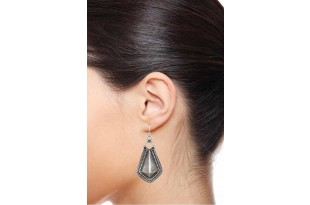 Classic Silver Drop Earrings for Women and Girls