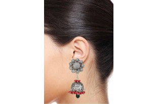 Lovely Coral Jhumka Earrings for Women and Girls