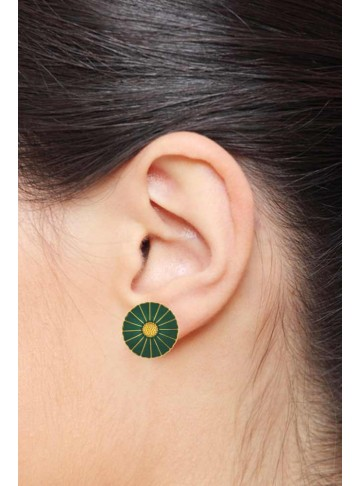 Green Enamel Disc Studs