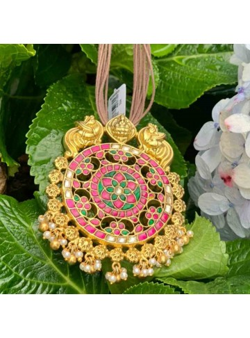 Floral Power Gold Plated Silver Pendant