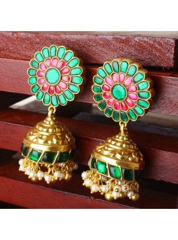 Gold Plated Silver Jhumka