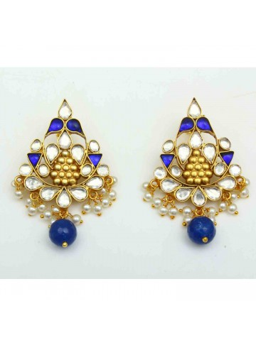 The Royal Blue Gold Plated Silver Chandbali