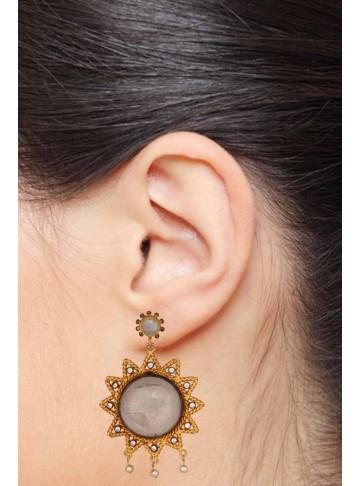 Silver Moonstone Drop Earrings